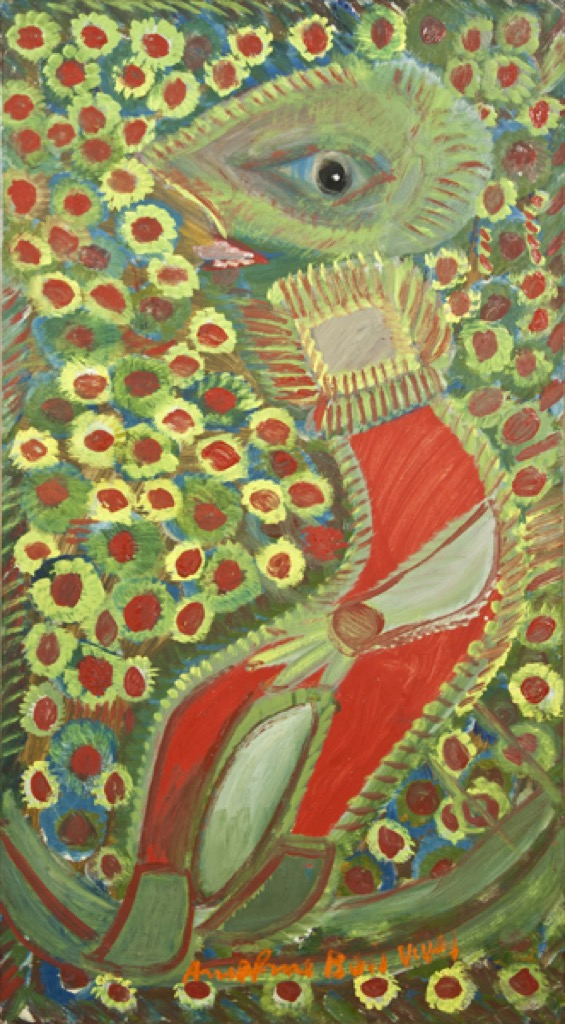 Red skier and flowers, 1966 by Anselme Boix-Vives