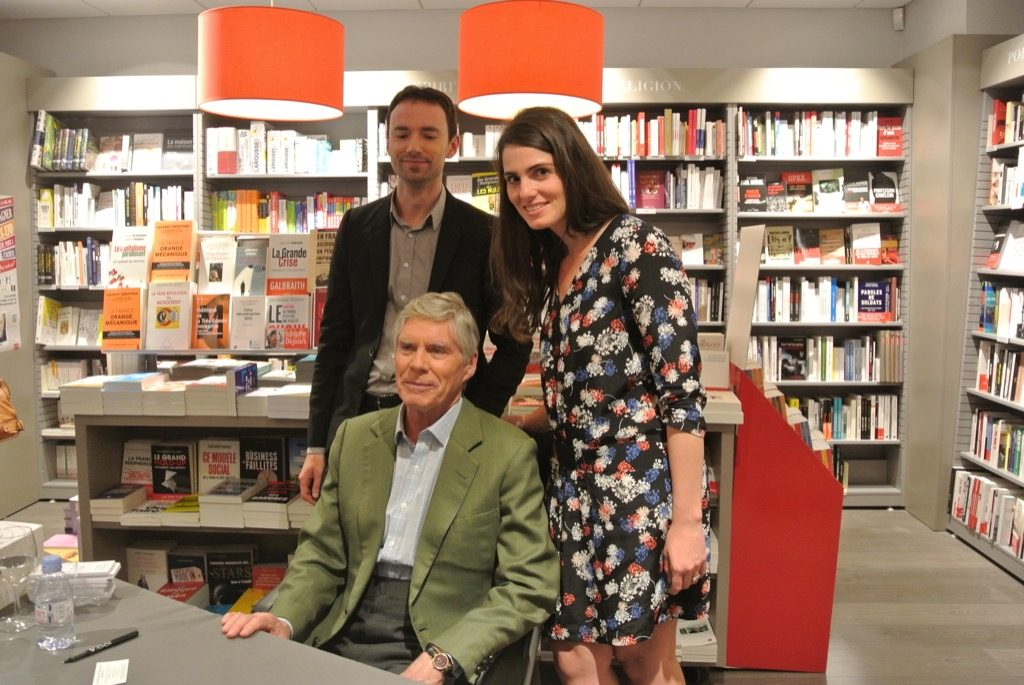 Gerald Shea with his editor Gregory Martin and his good fairy, Aurélie Delfly