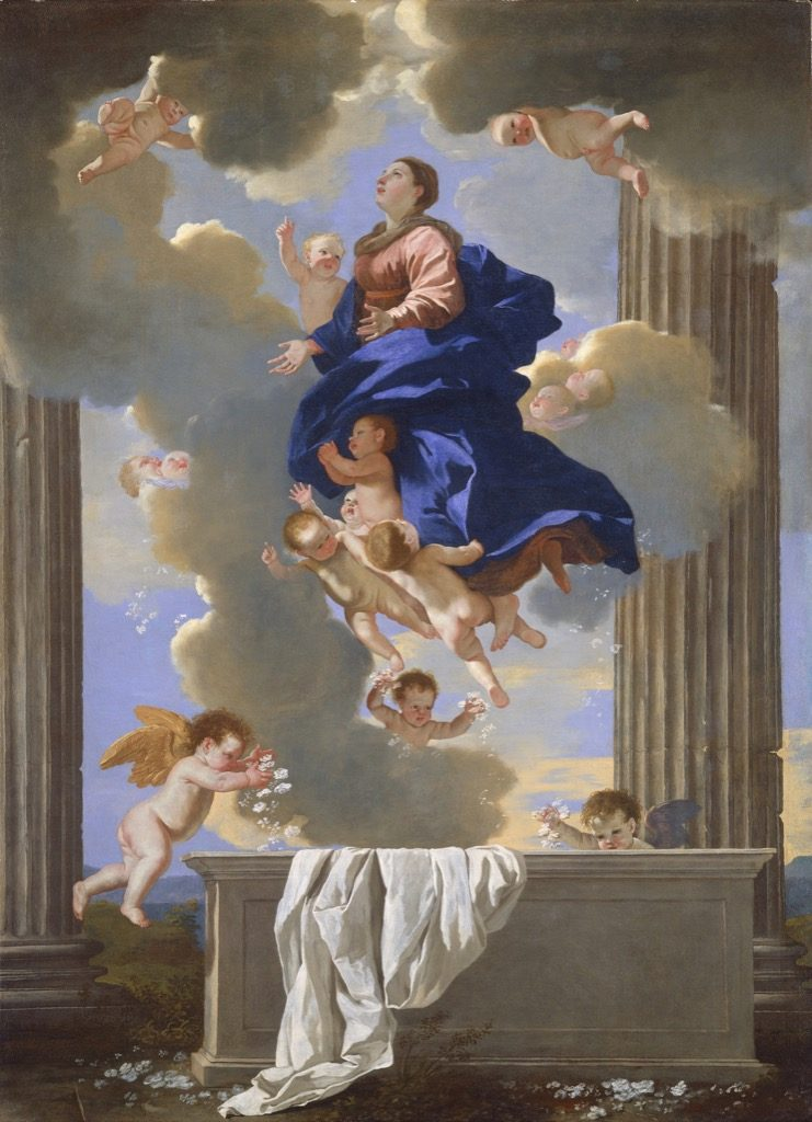 """the Assumption of the Virgin"" with the famous bleu Poussin,© National Gallery of Art, Washington"
