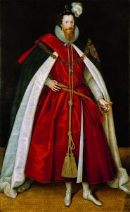 The handsome Devereux, Count of Essex, by Gheeraerts. © National Portrait Gallery, London, England