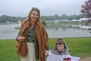 Stéphanie Dulout and her son Louis came as neighbors