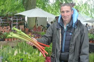 Mathieu Vermes grows 110 different kinds of rhubarb at Domaine de la Source