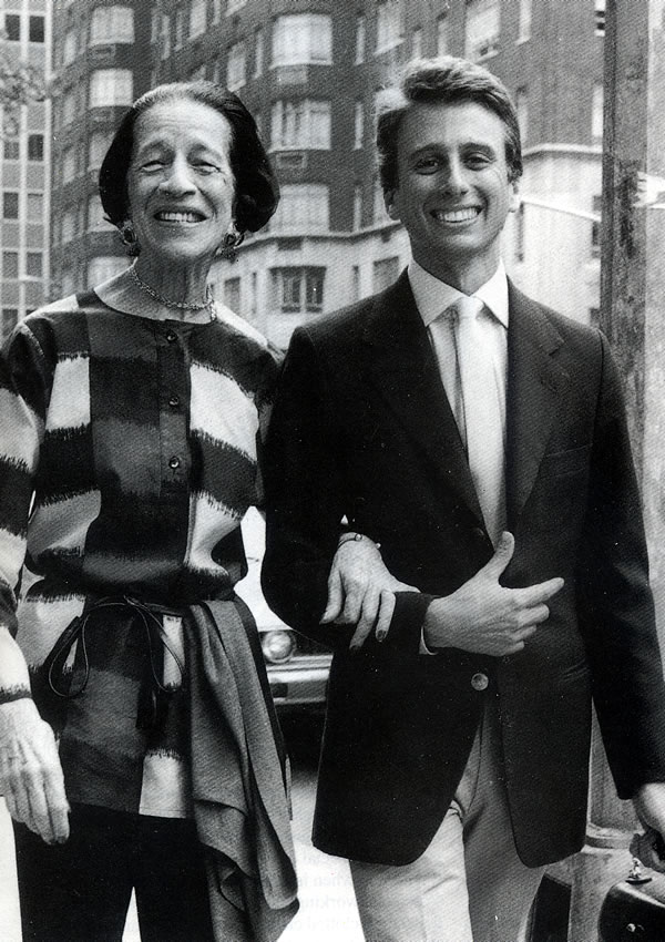With his grandmother Diana Vreeland at 25