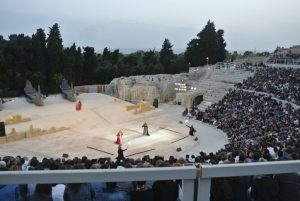 Seeing Iphigenia in the Teatro Greco was a unique experience