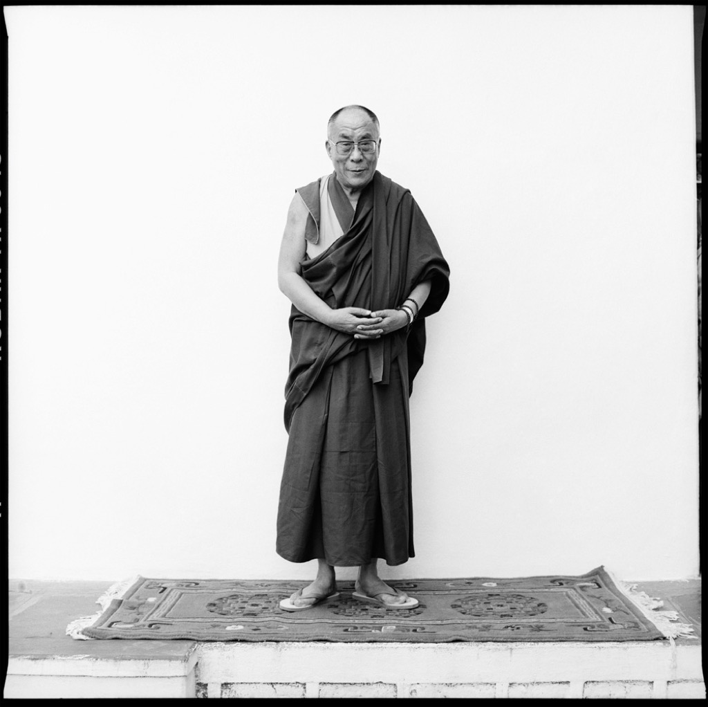 This is the first picture he took of the Dalai Lama