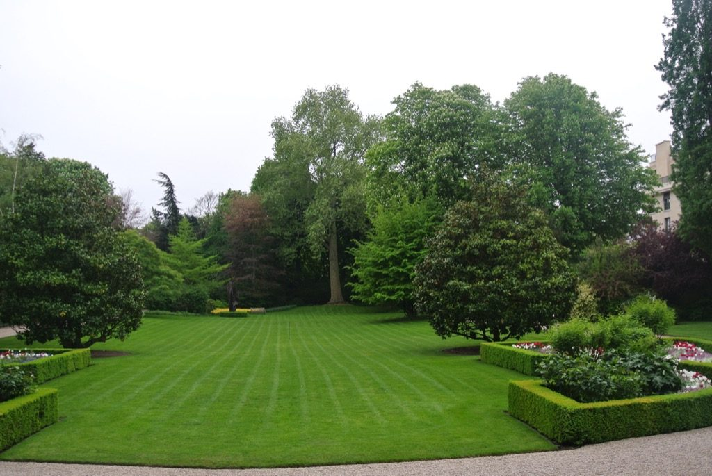 The impeccable lawn will take weeks to get over the Independance ay bash