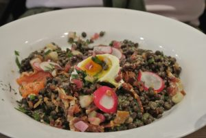 Lentil salad with all the right ingredients