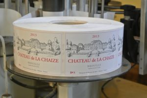 The labels of classic brouilly reproduce the castle