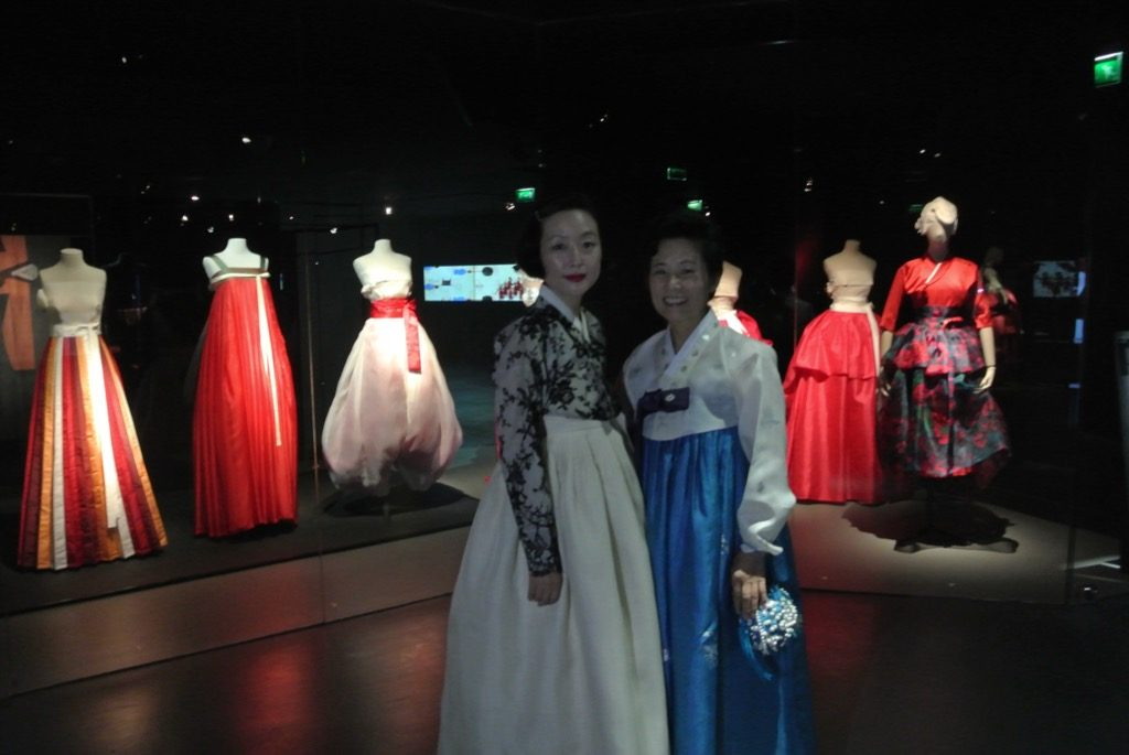 Two designers from Hanbok, traditional clothes