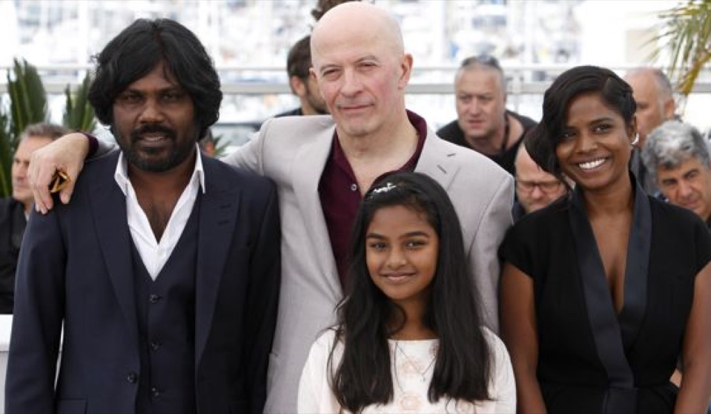 Jacques Audiard and part of the cast at the Cannes Film festival