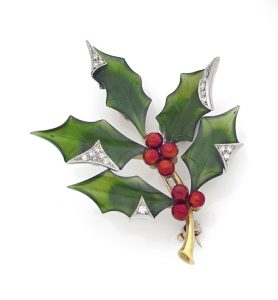 Holly broach for Xmas
