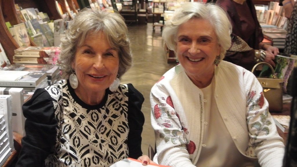 Isabelle d'Ornano and Christiane Mazery sign their book