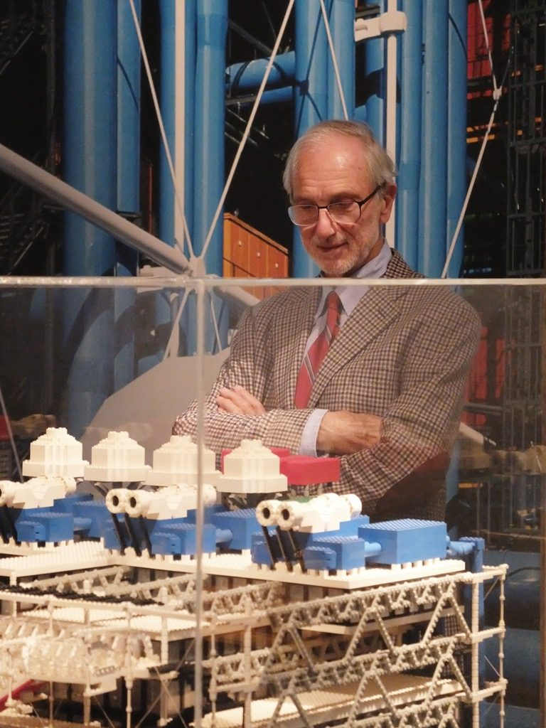 Renzo Piano at Centre Pompidou, on elf his first buildings with Richard Rogers