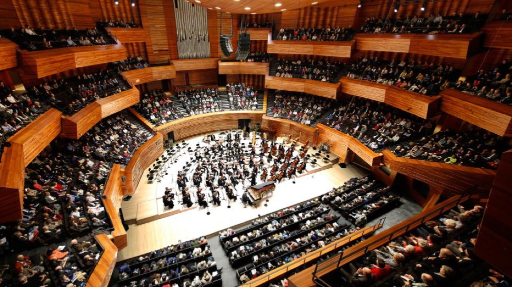 The auditorium is built in such a way that acoustics are brilliant all around