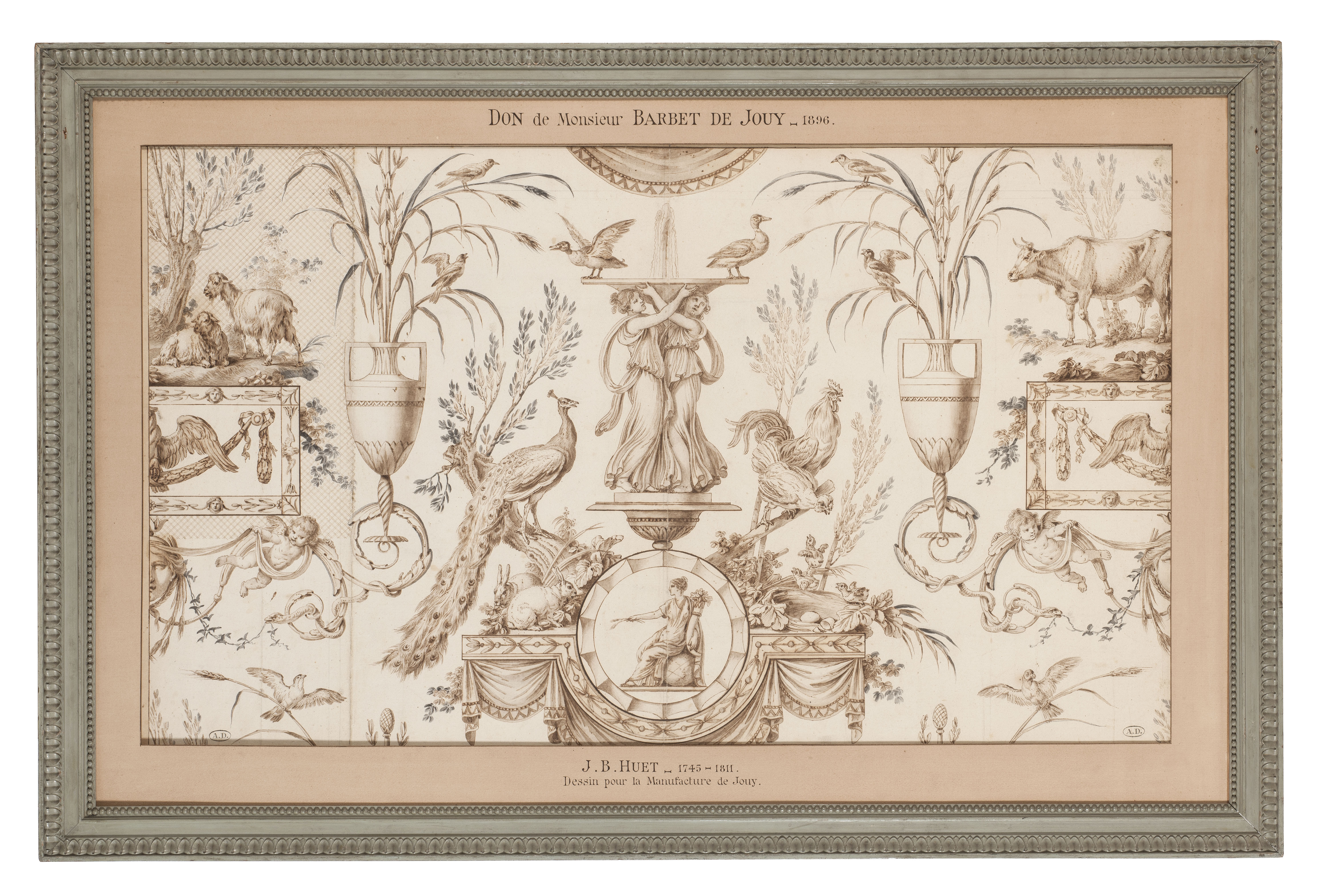 model for a toile de Jouy, Escarpolette, grisaille, © Les Arts décoratifs, Paris/Jean Tholance