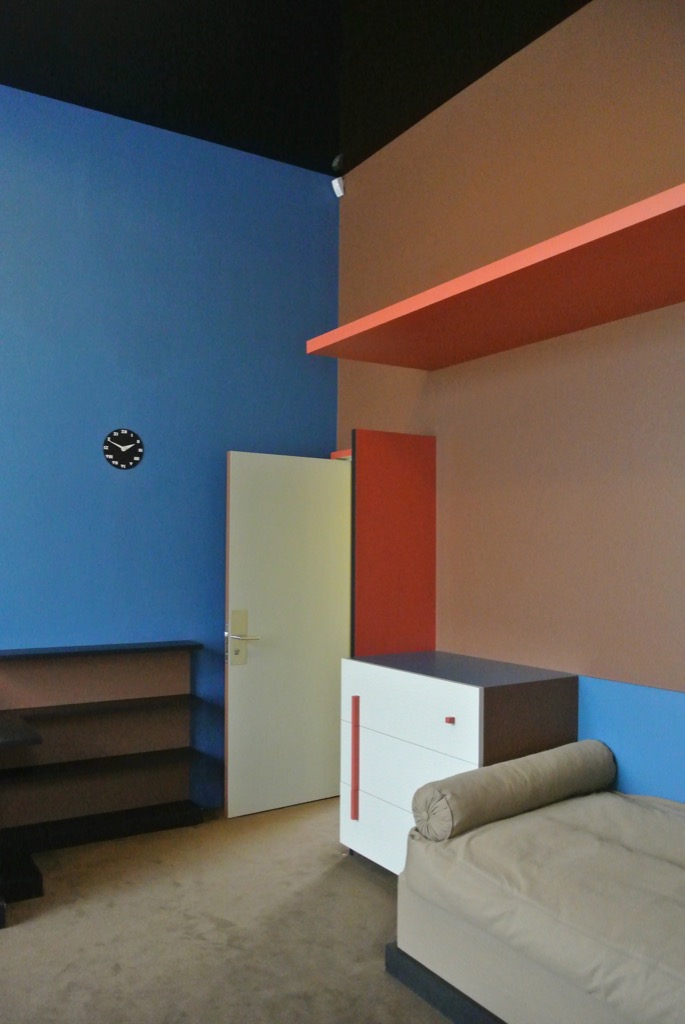 The children's rooms have built in furniture