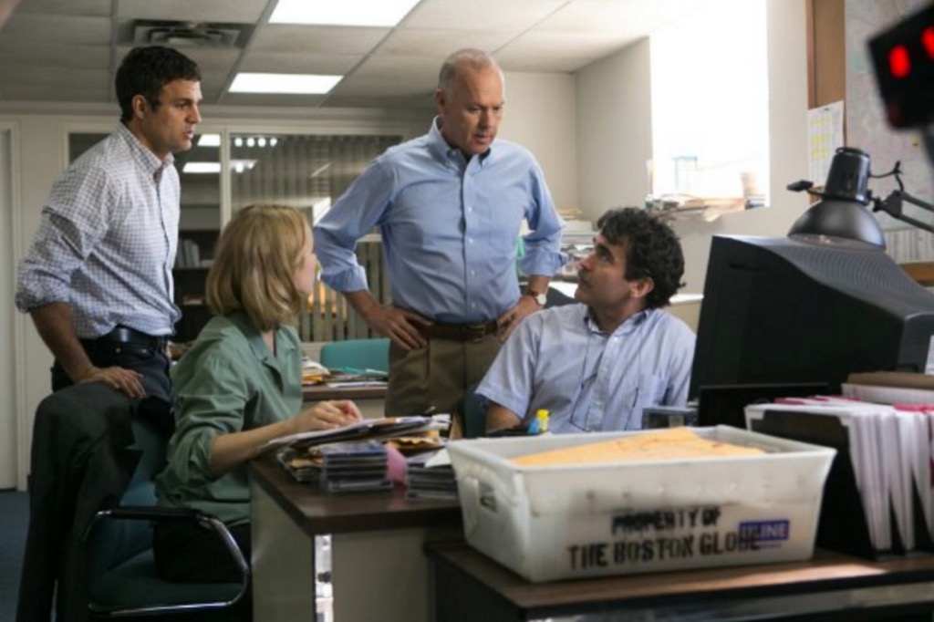 The spotlight team led by Michael Keaton with