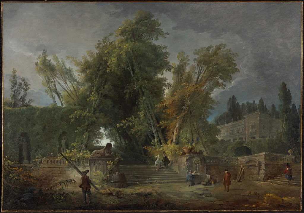 Hubert robert intimate paris diary by laure for Artistes de jardin