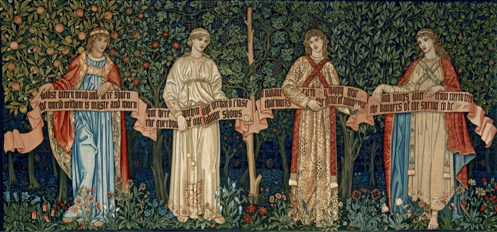 The-Orchard-1890-by-William Morris, Victoria-and-Albert Museum, London