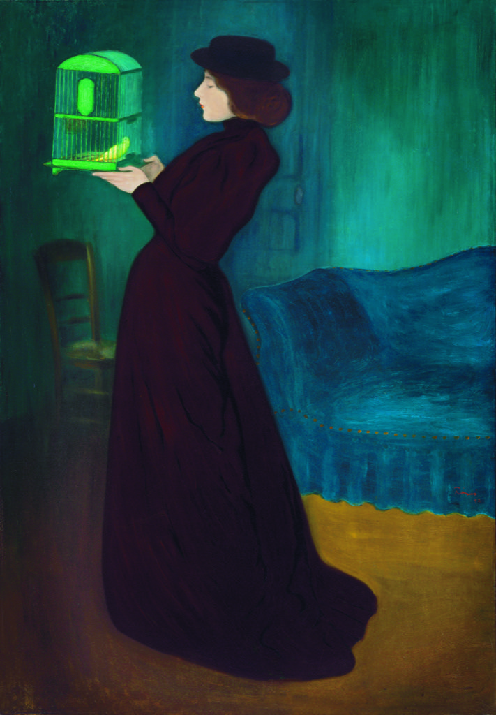 Jozsef Rippl-Ronai, Lady with a cage, 1892 Galerie Nationale Hongroise, Budapest