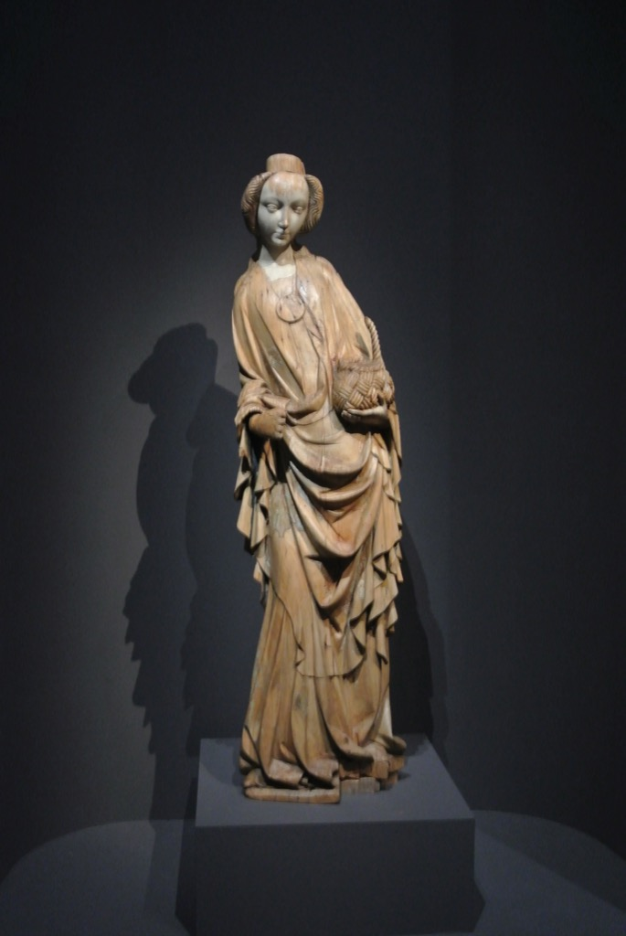 St Dorothy, sculpture on wood, 1410