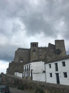 The castle at Castellar de la frontera is accessible through a very steep road