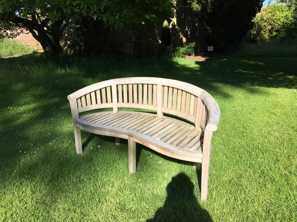 The pretties round bench under a three centuries old Cedar tree