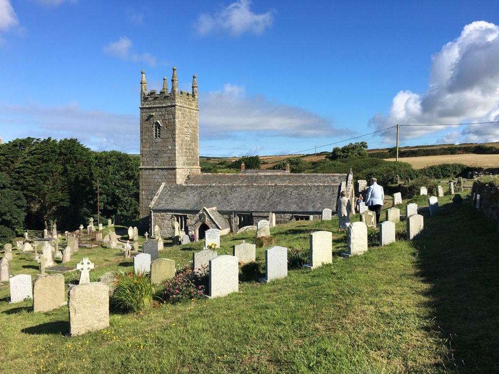 St Levan church in Porthcurno is magical