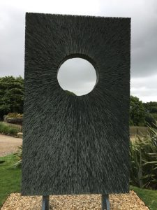 Darren Hawke's slate sculpture won the Chelsea Flower show Eco prize