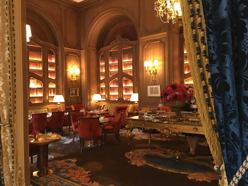 The tea room at the ritz has kept some of the warmth of before