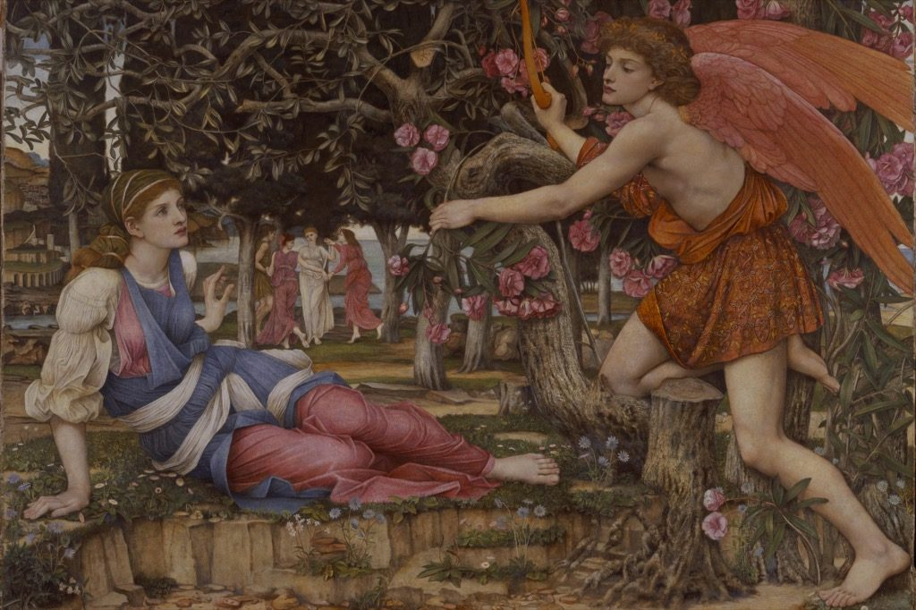 John Roddam Spencer Stanhope, Love and the young girl, 1877, Fine Art Museum San Francisco