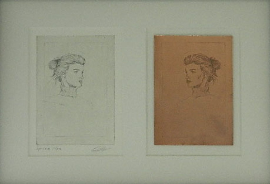 Anna's etching and copper plate