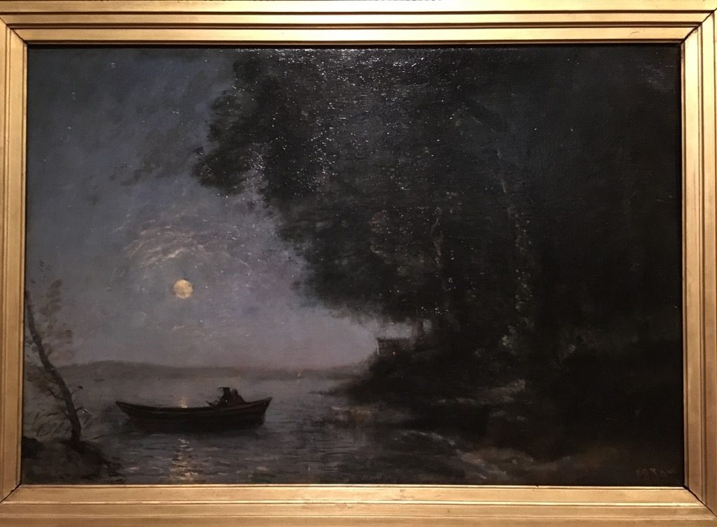 "Jean Baptiste Corot, ""The lake, night effect"""