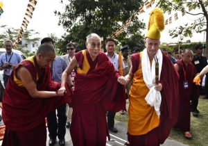Nicholas Vreeland leads His Holiness the Dalai Lama on December 29 th in Southern India