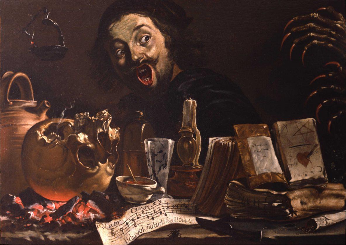 13. Van Laer-autoportrait avec scène de magie