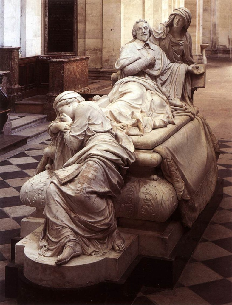 Richelieu's tomb in the Chapel of the Sorbonne as sculpted by François Girardon