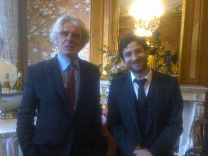 Miguel Bonnefoy with Renaud de la Baume