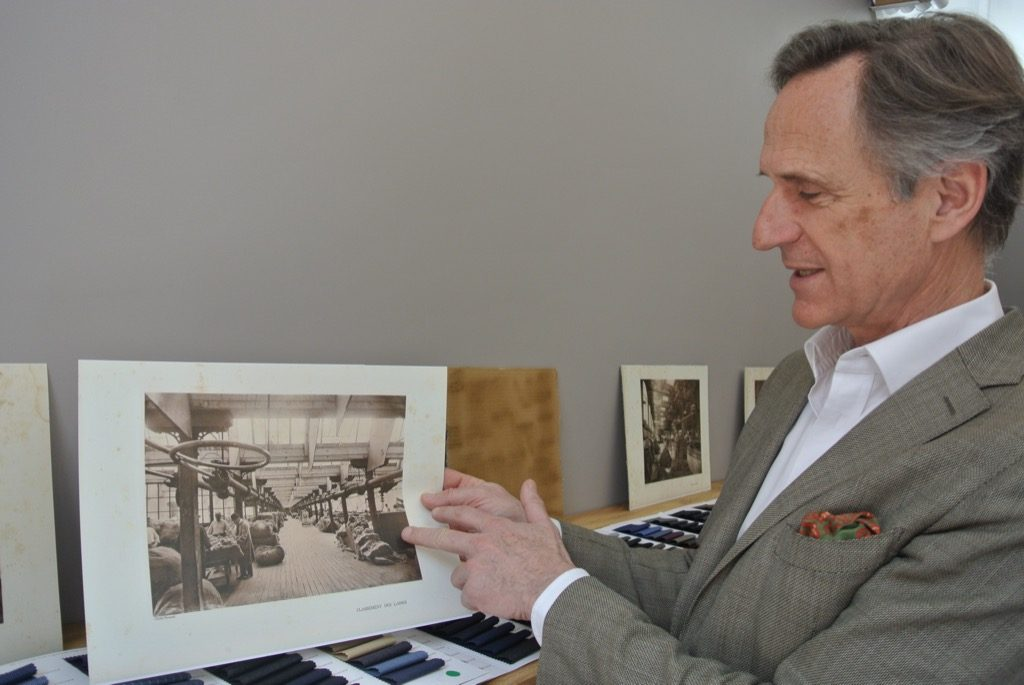 Charles Balsan shows the factory his ancestor started in 1864, in Chateauroux
