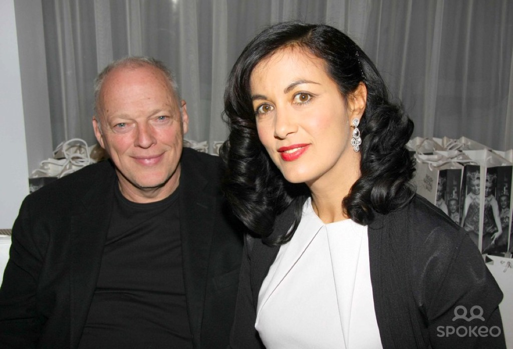 Polly Samson with husband David Gilmour whom she writes lyrics for