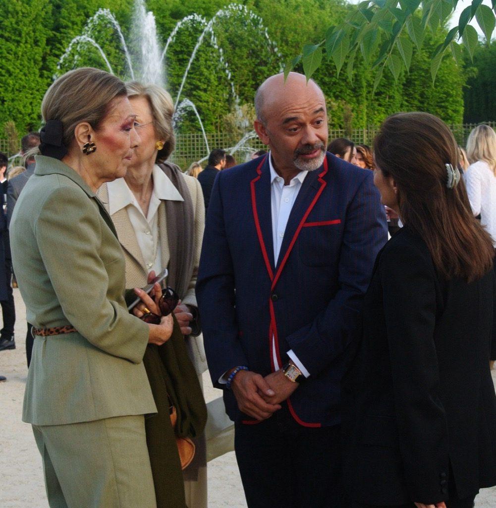 The Shabanou Farah Pahlavi with CHirstian Louboutin and Nazanine Ravai