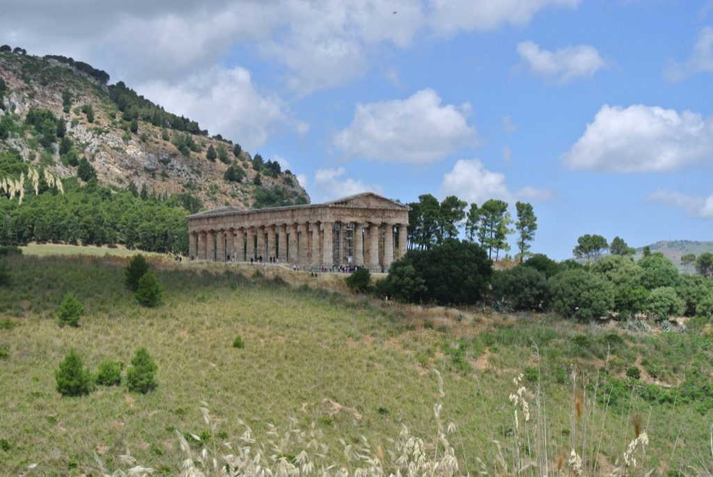The 5th century bc Temple of Segeste remains very wild and romantic like its arch enemy Selinunte.