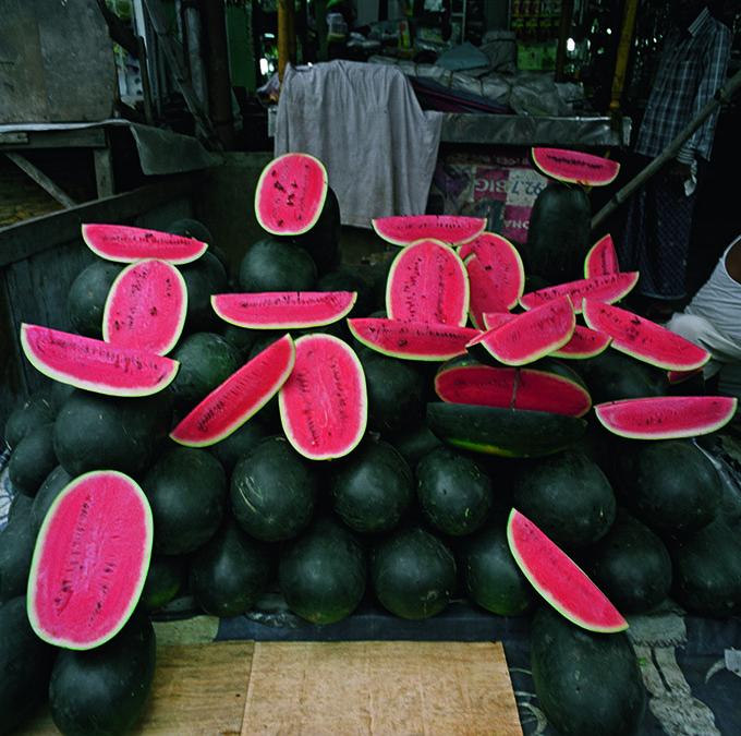 His watermelons look like real people