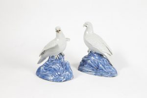 Two Japanese XIX th century  falcons