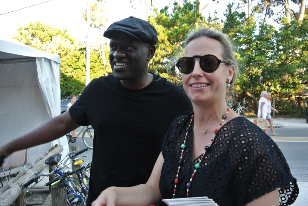 French Congolese writer Alain Mabanckou was the entertainer of the group