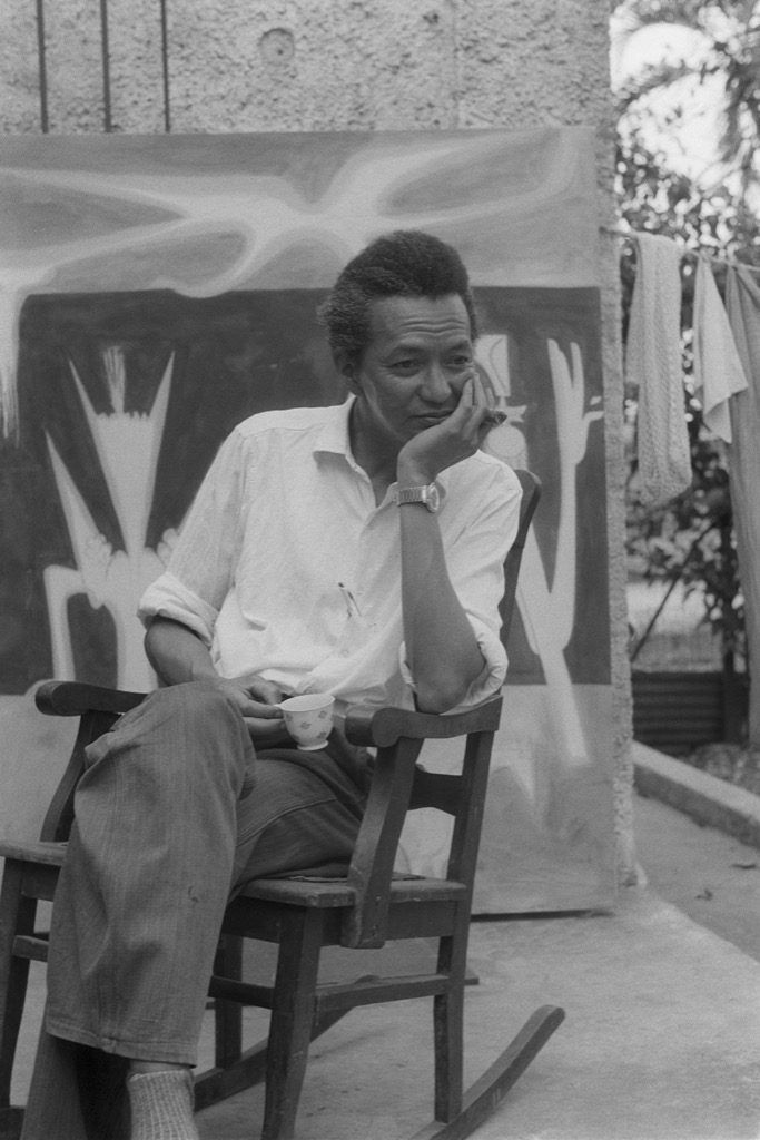 Wifredo Lam Cuba 1956 photo Jesse A Fernandez Collection France Mazin fernandez