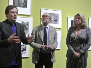 François Hébel, Christian Lacroix and Anne Clergue at the opening
