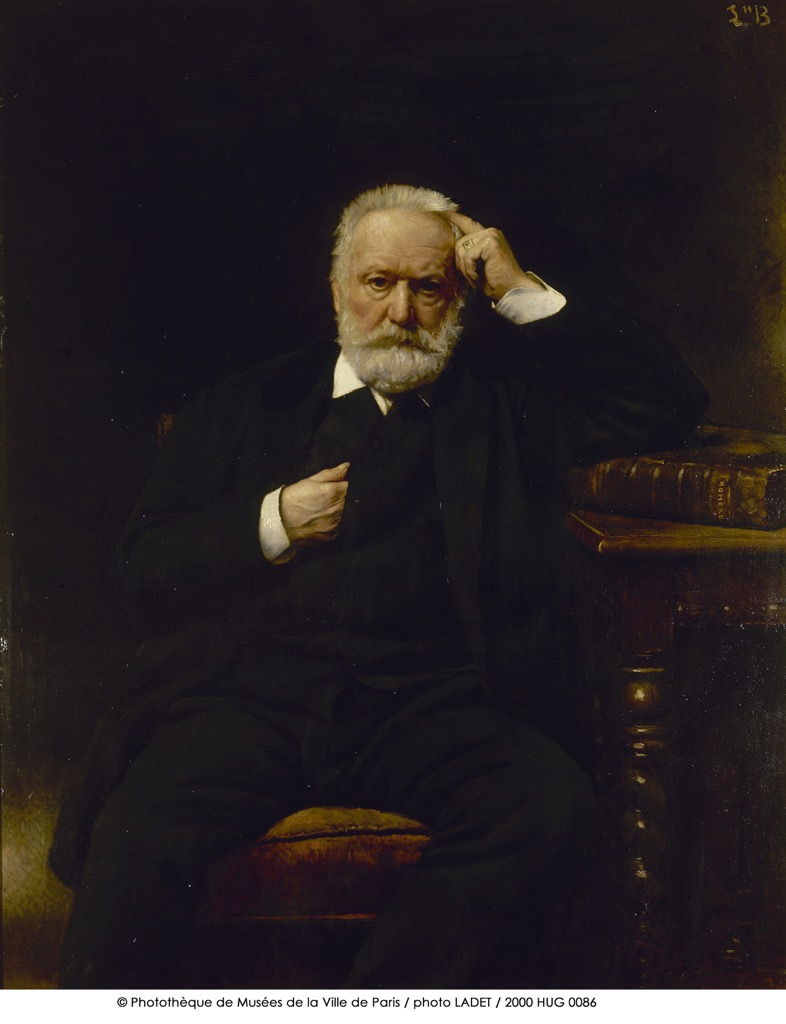 A superb portrait of Victor Hugo by Bonnat in his second floor apartment of Place des Vosges