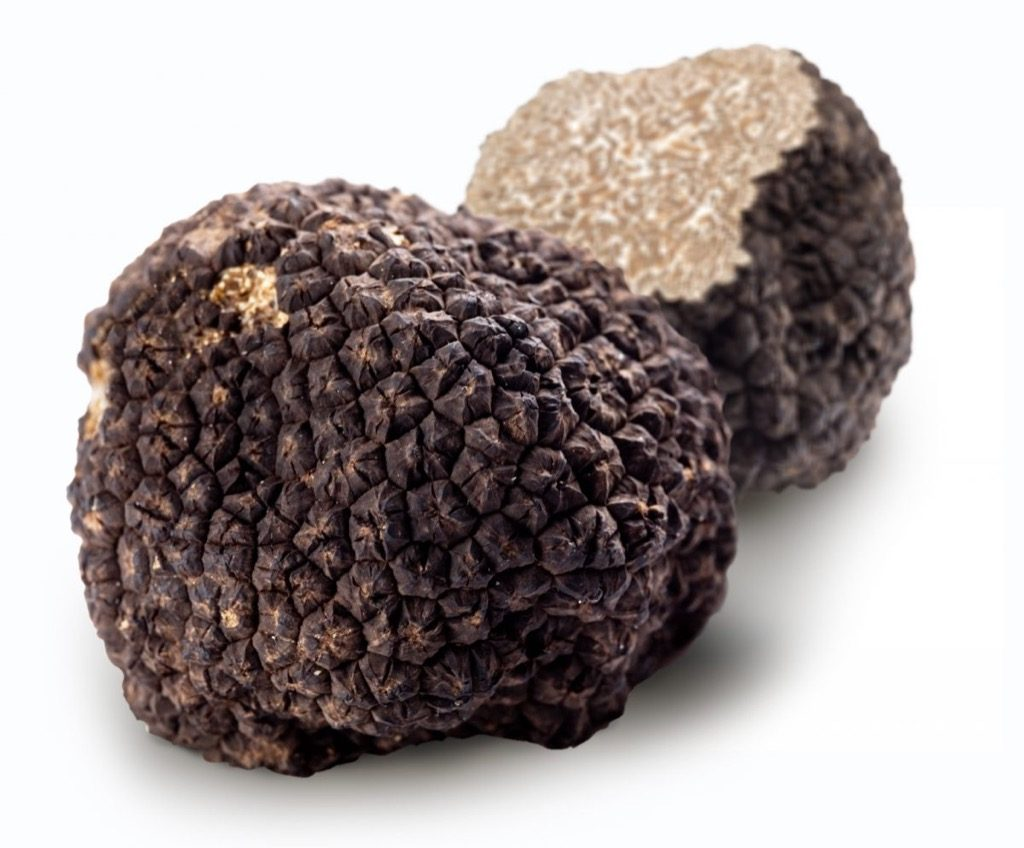 With ten grams of black truffle, you can already enjoy the smell and taste
