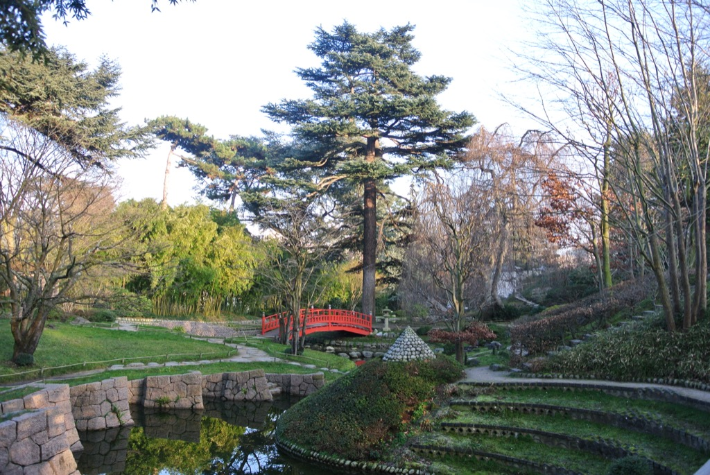 The Japanese garden was remodeled thirty years ago with modern designs