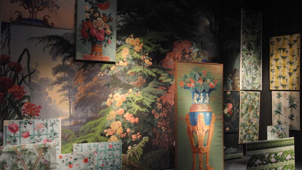 Wallpapers are exhibited thematically and were made over four centuries